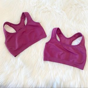 2 Patagonia Bright Pink Sports Bra Size XS Small